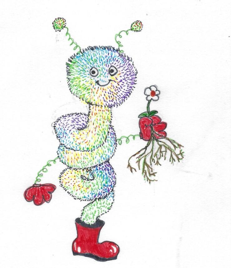 flower pot worm